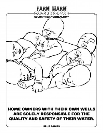 Farm Harm coloring page - Blue babies