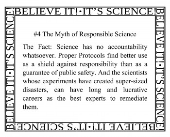 4 The Myth of Responsible Science