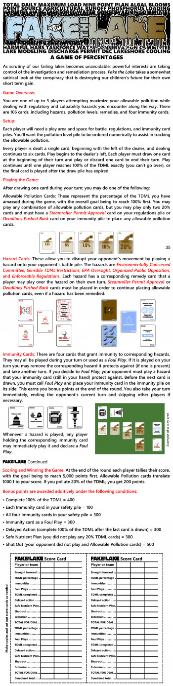 """Fake the Lake"" Card Game Finished"