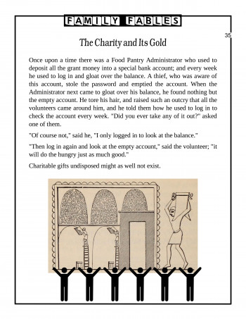 The Charity and Its Gold