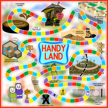 """Handy Land"" Game Board"