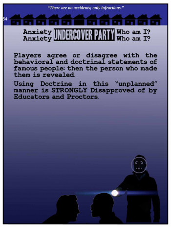 "Anxiety Undercover Party: ""Who am I?"""